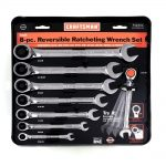 8-piece Standard Reversible Ratcheting Combination Wrench Set