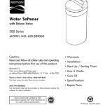 Water Softener Owner's Manual