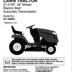 Lawn Tractor Owner's Manual