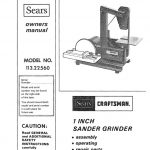 Sander/Grinder Owner's Manual