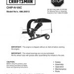 Lawn Vacuum Chipper/Shredder Owner's Manual