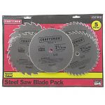Steel Saw Blade Variety, 5-pack