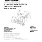 Lawn Tractor Snowblower Attachment Owner's Manual