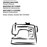 Sewing Machine Owner's Manual