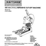 Chop Saw Owner's Manual