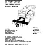 Lawn Tractor Dethatcher Attachment Owner's Manual