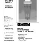 Water Filter Owner's Manual