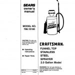Sprayer Owner's Manual