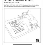Utility Sharpener Owner's Manual