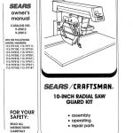 Radial Arm Saw Owner's Manual