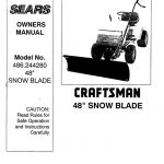 Lawn Tractor Snow Blade Attachment Owner's Manual