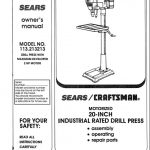 Drill Press Owner's Manual