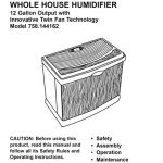 Humidifier Owner's Manual