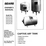 Captive Air Tank Owner's Manual