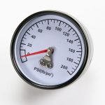 Air Compressor Pressure Gauge, 200-PSI