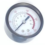 Air Compressor Pressure Gauge, 250-PSI