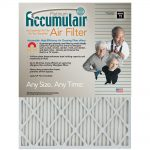 Accumulair Platinum Air Filter, 14 x 25 x 1, 12-pack