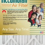 Accumulair Gold Air Filter, 25 x 25 x 1, 4-pack