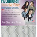 Accumulair Diamond Furnace Air Filter, 16 x 25 x 4, 6-pack